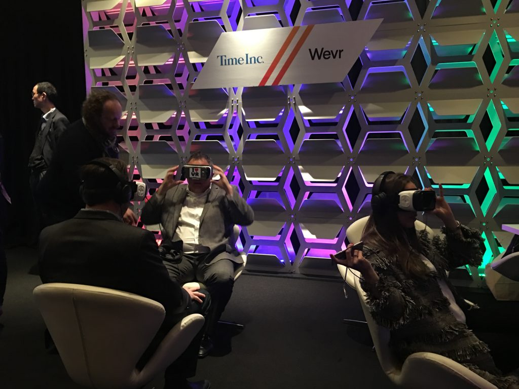 Wevr Time Inc VR experience NewFronts